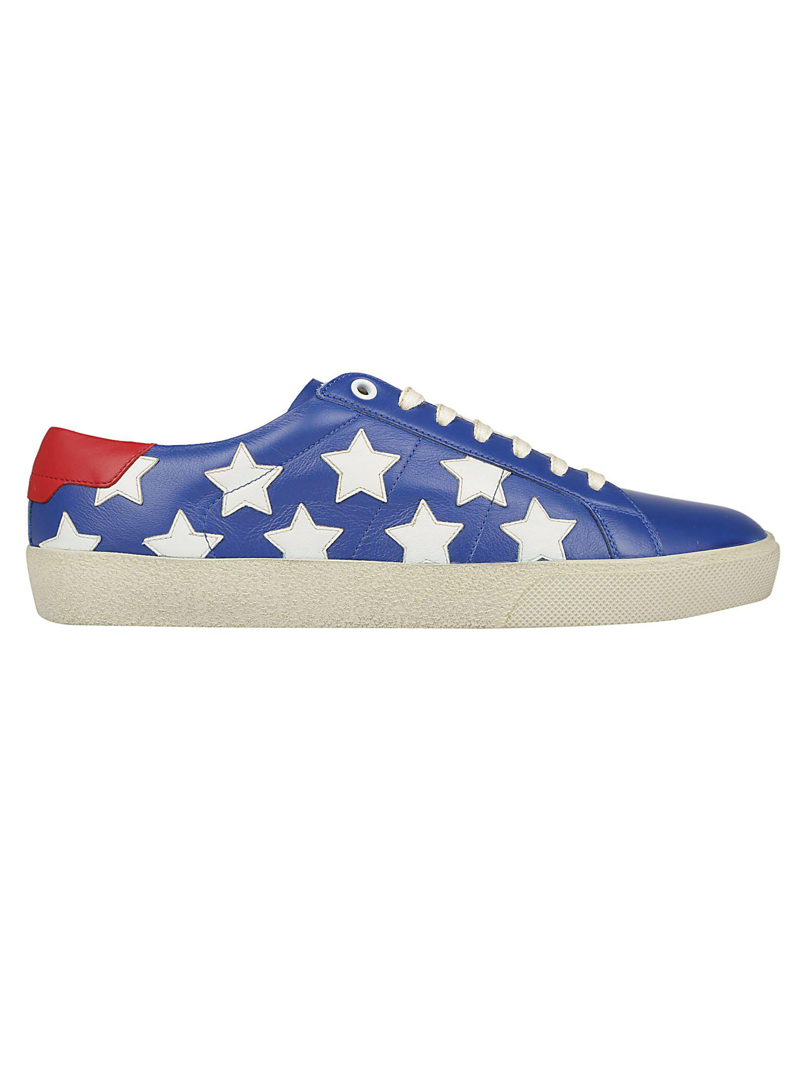 8d55348b018 Lyst - Saint Laurent Star Print Sneakers in Blue - Save 20%