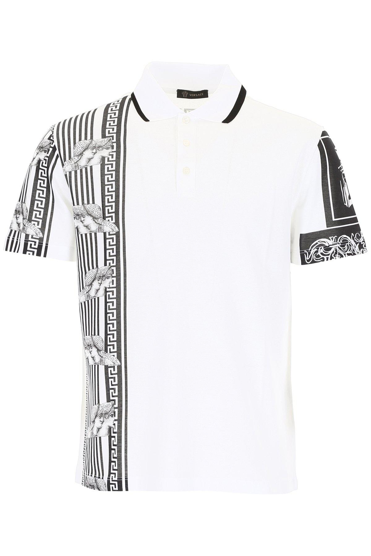 4ca528b79 Lyst - Versace Print Polo Shirt in White for Men
