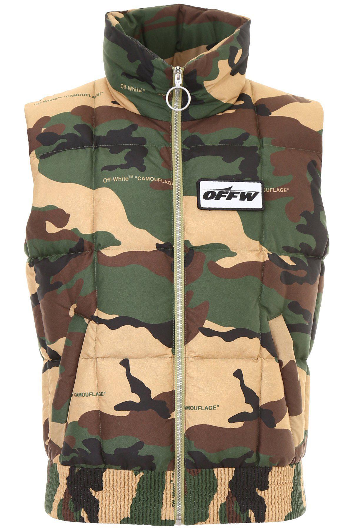 1c8cc1c0b97f3 Off-White c/o Virgil Abloh Camouflage Padded Vest in Green for Men ...