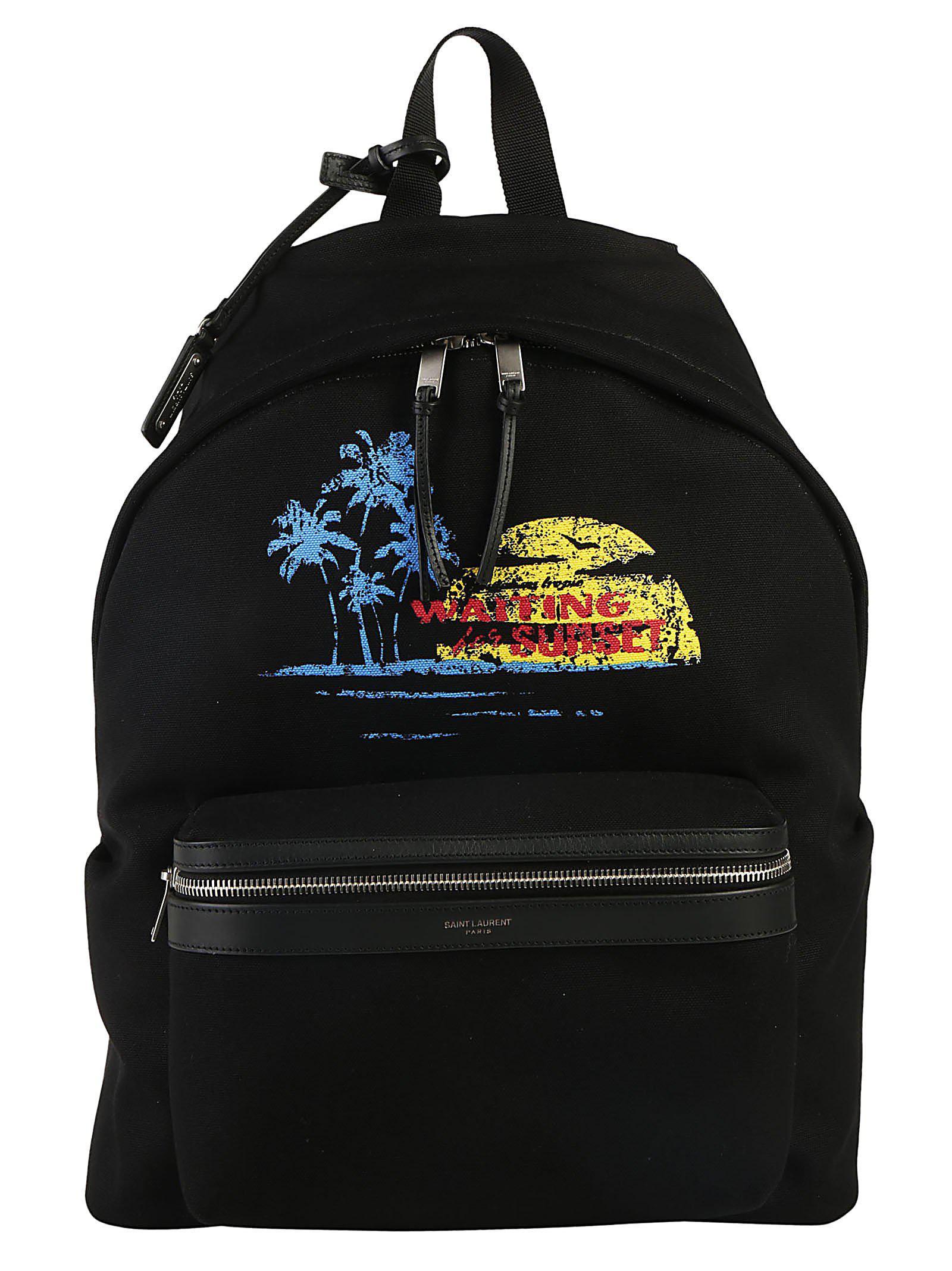 Saint Laurent Waiting For Sunset City Backpack in Black for Men - Lyst e61d1640e2c46