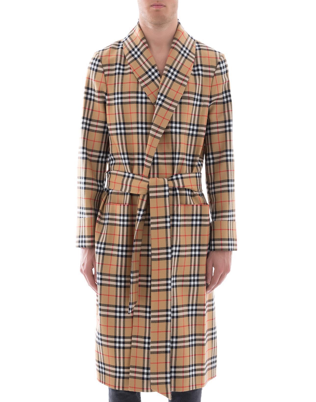 d8e70533d116 switzerland burberry manston check silk tie b5175 b4d5c; coupon order  burberry check waist tie coat in natural for men lyst ce79c b66e1 30720  b7598