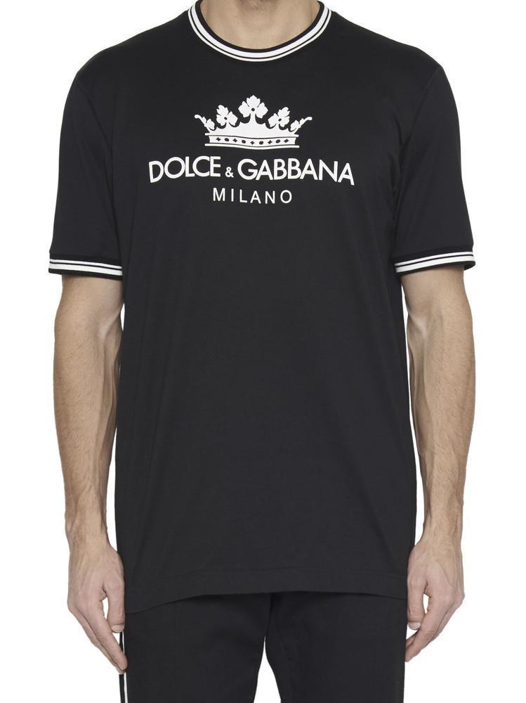 107dc443c Dolce & Gabbana - Black Logo T-shirt for Men - Lyst. View fullscreen