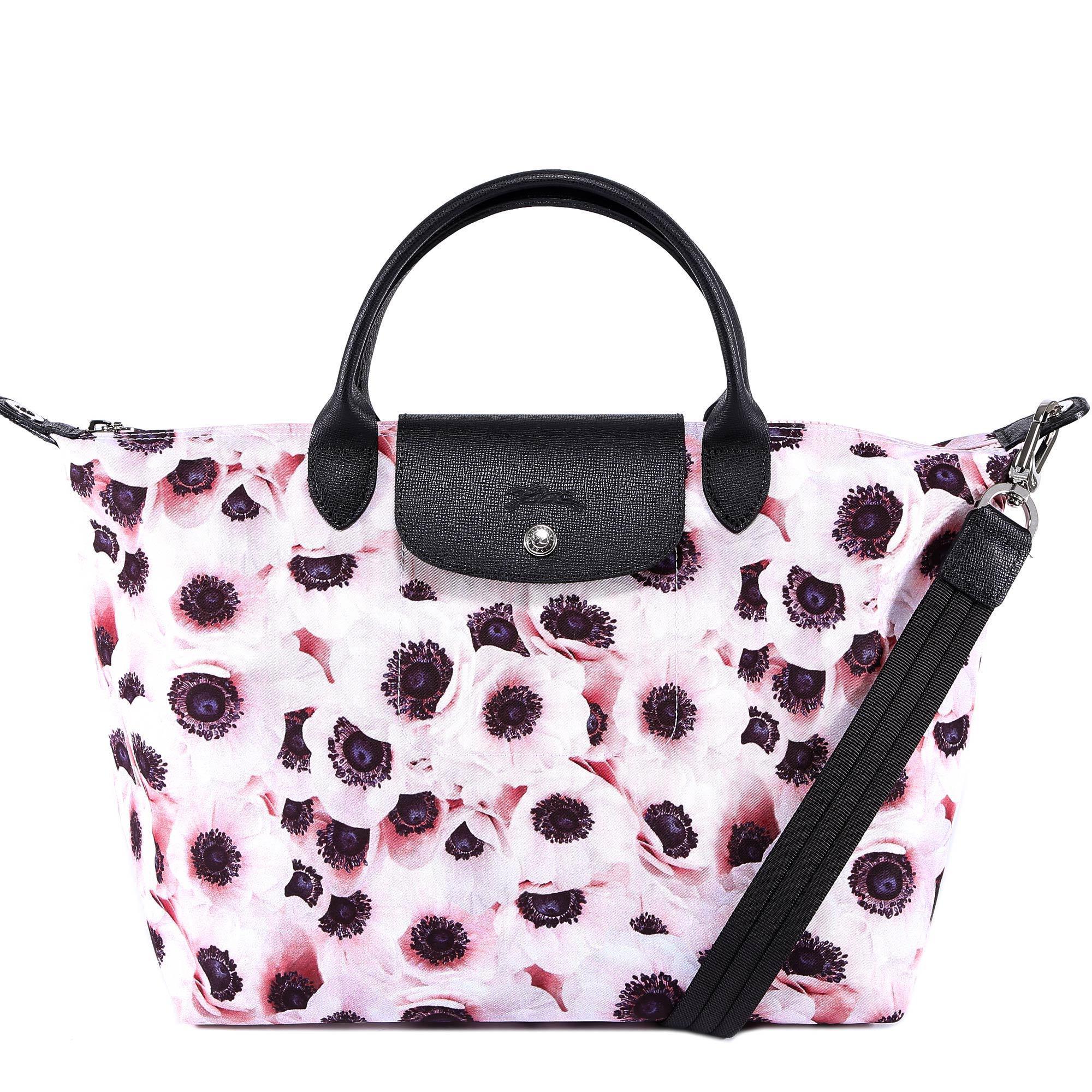 Longchamp Poppy Print Le Pliage Handbag in Pink - Lyst e10b91a25f0ae