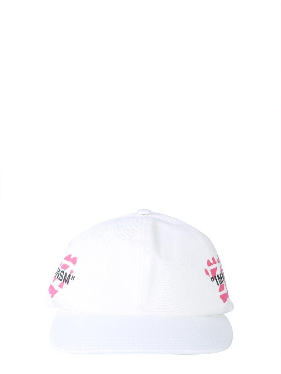 b8590746 Off-White c/o Virgil Abloh Red And White Impressionism Baseball Hat ...