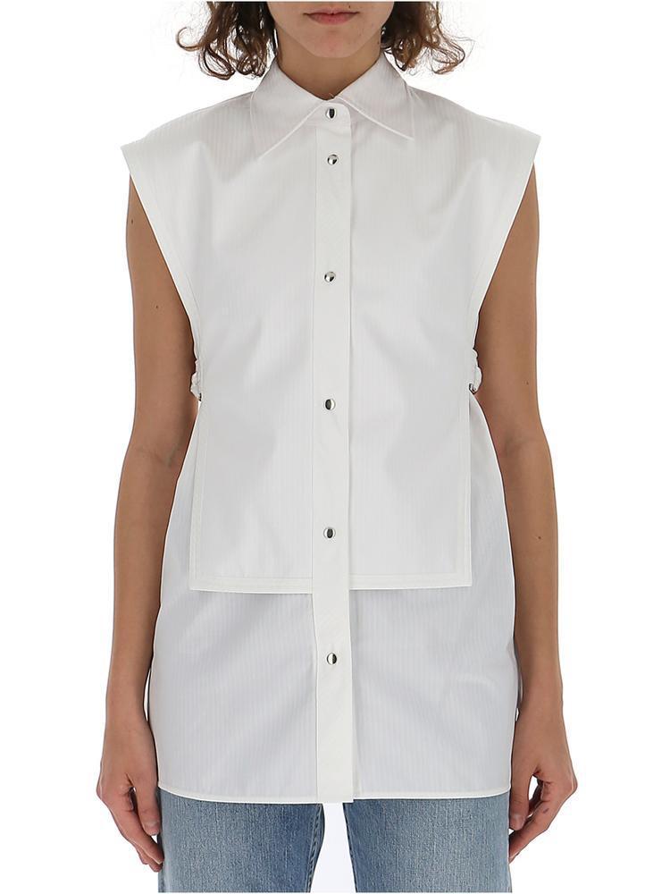 fb17e42d7e6 Lyst - Helmut Lang Sleeveless Blouse in White
