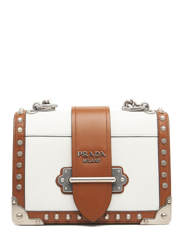 3fabf6278a37 Prada Cahier Shoulder Bag in White - Lyst