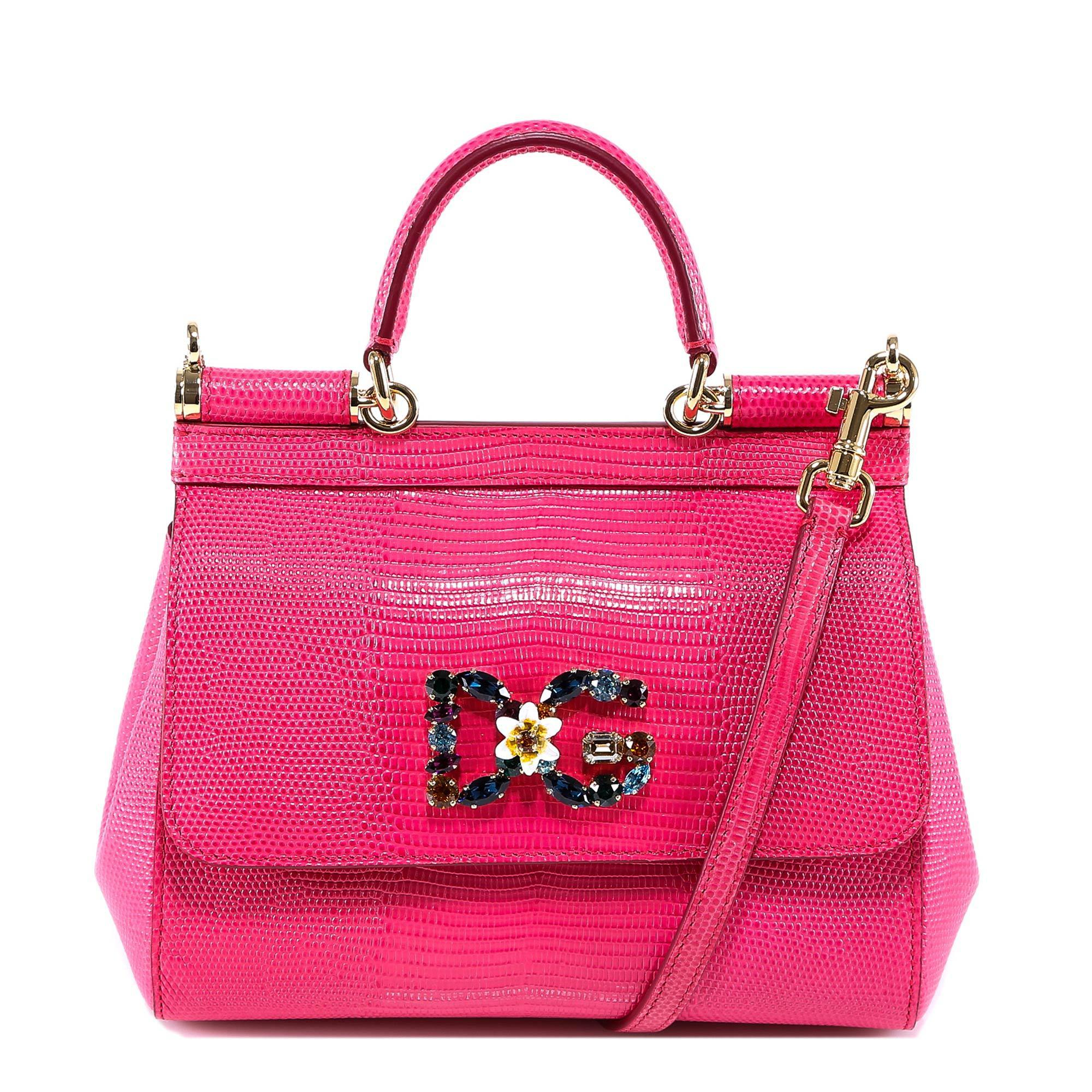 c9dac45235ce Dolce   Gabbana Small Sicily Tote Bag in Pink - Lyst