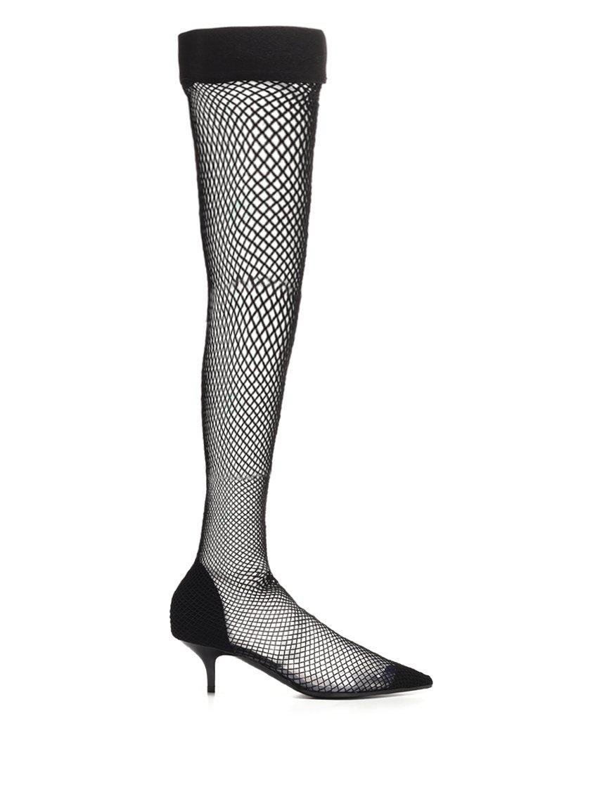 89b2a2b606d Lyst - Stella McCartney Fishnet Boots in Black