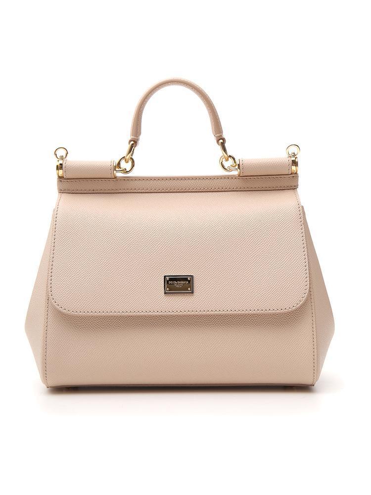 62b50f230607 Lyst - Dolce   Gabbana Medium Sicily Tote Bag in Natural