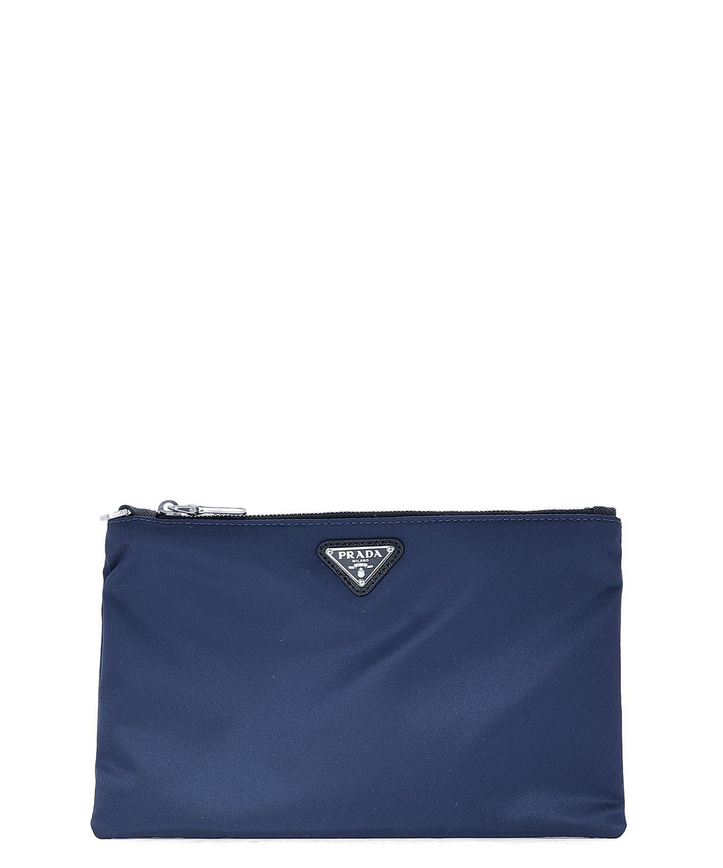 38b141287d81 Lyst - Prada Logo Pouch in Blue for Men