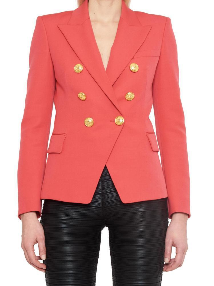 5b07d7d8 Balmain Double Breasted Blazer in Pink - Lyst