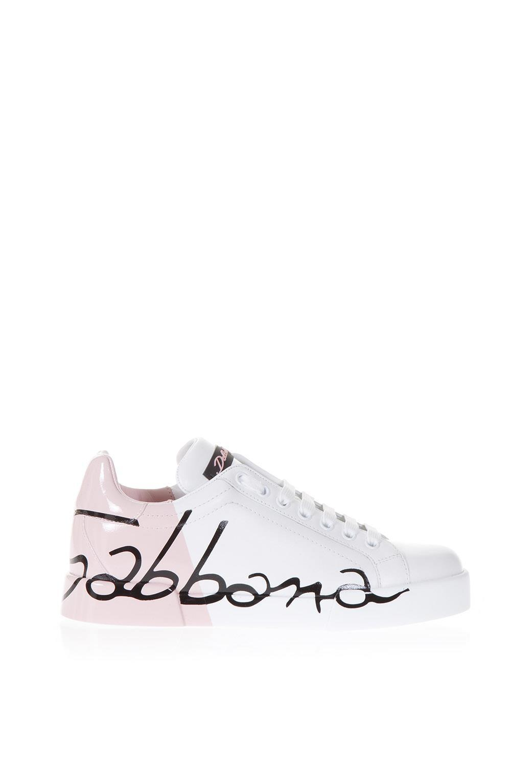 f761f97ef4 Lyst - Dolce & Gabbana Two Tone Portofino Sneakers in Pink - Save 26%