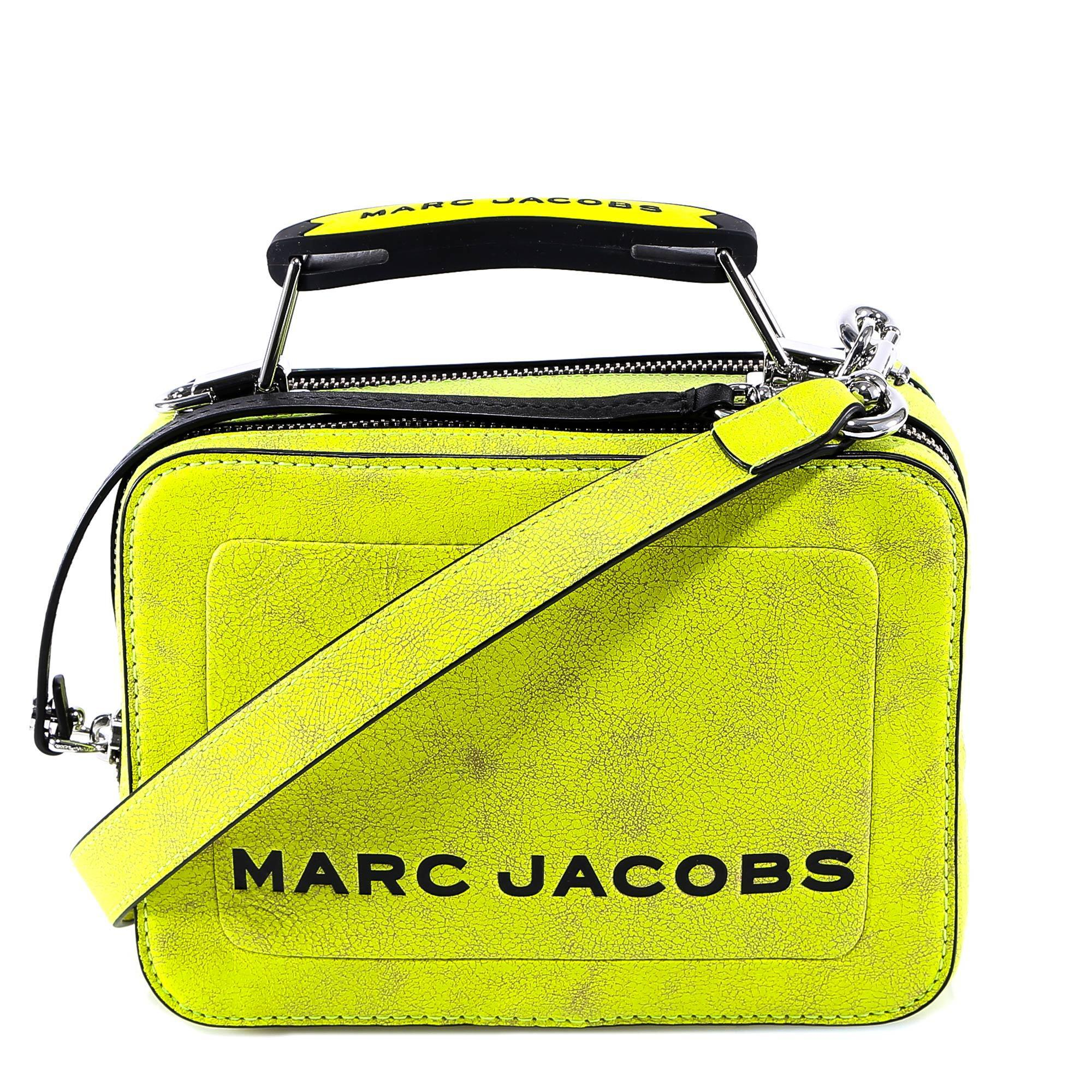 31288109ce31 Marc Jacobs Logo Fluorescent Shoulder Bag in Yellow - Lyst