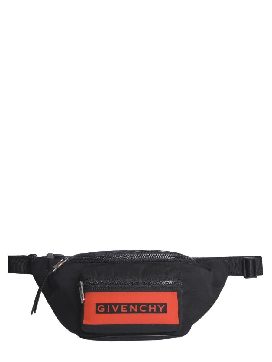 2fc25f5c499941 Lyst - Givenchy Logo Zipped Belt Bag in Black for Men