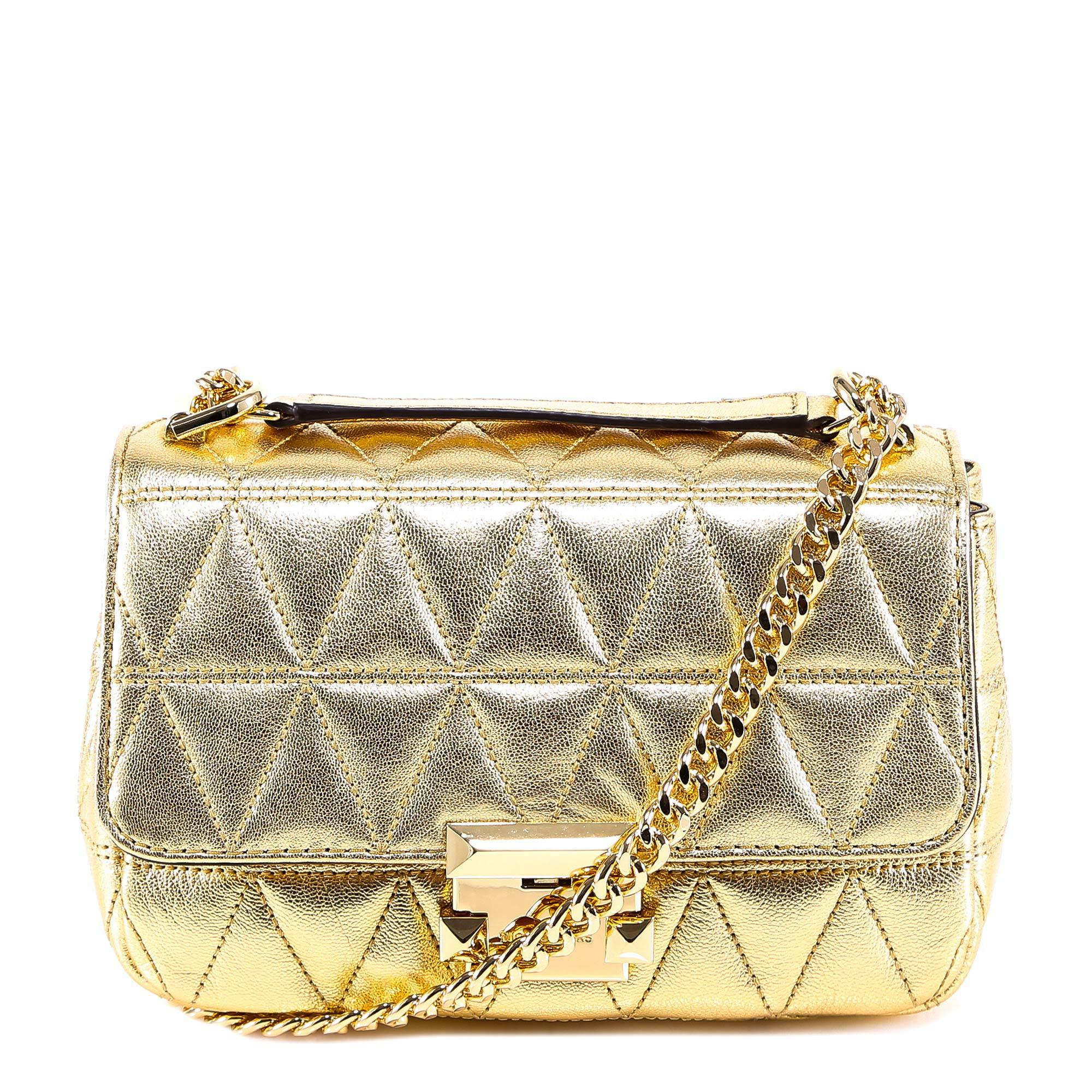 Michael Michael Kors Sloan Quilted Chain Shoulder Bag in Metallic - Lyst a254a8d6722e3