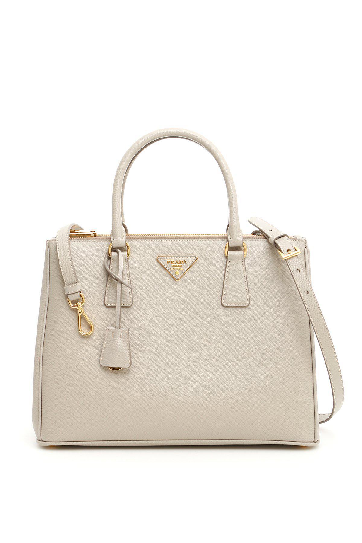 e4abd916d1bd Lyst - Prada Saffiano Lux Galleria Bag in Natural
