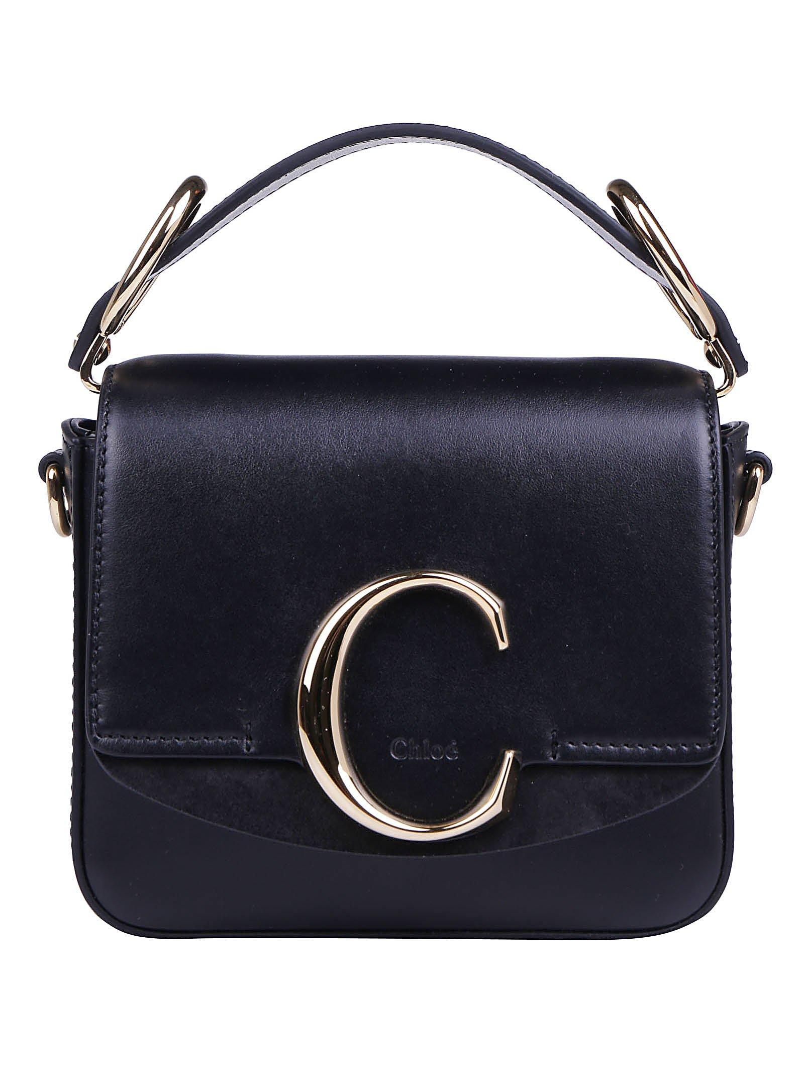 afe0d9cfc5b1 Lyst - Chloé Chloé C Ring Top Handle Crossbody Bag in Black