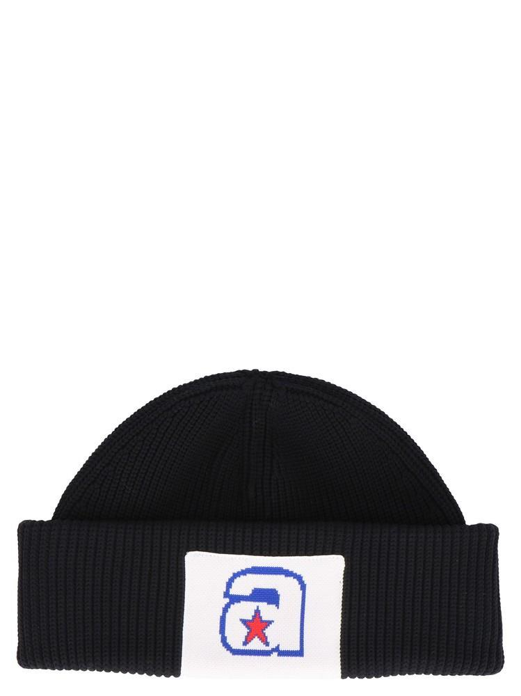 7a23ce50 Lyst - Alexander Wang Logo Patch Beanie in Black - Save 8%
