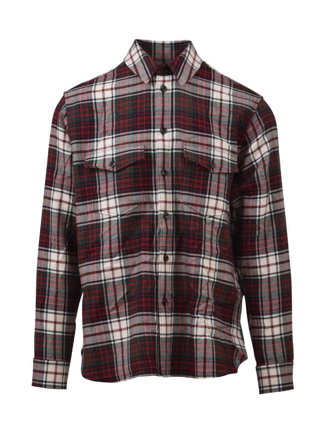 0637267a Gucci Plaid Shirt in Red for Men - Lyst
