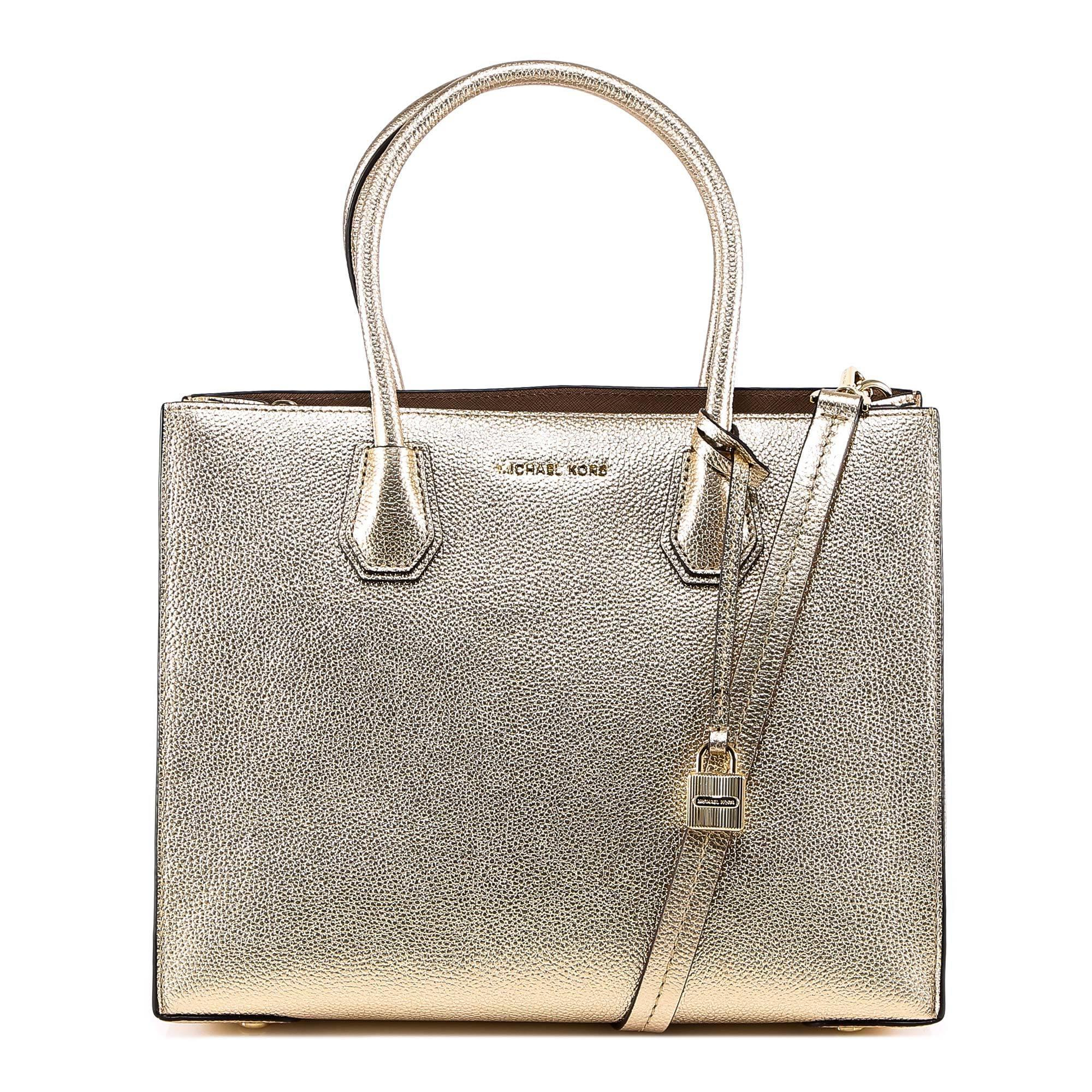 6437c1afefc1 MICHAEL Michael Kors Mercer Large Metallic Leather Tote in Metallic ...