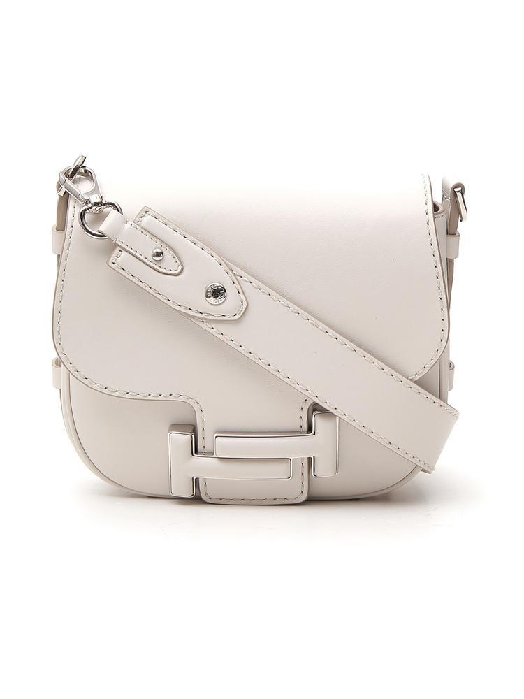 feb396acb5 Lyst - Tod's Double T Crossbody Bag in White