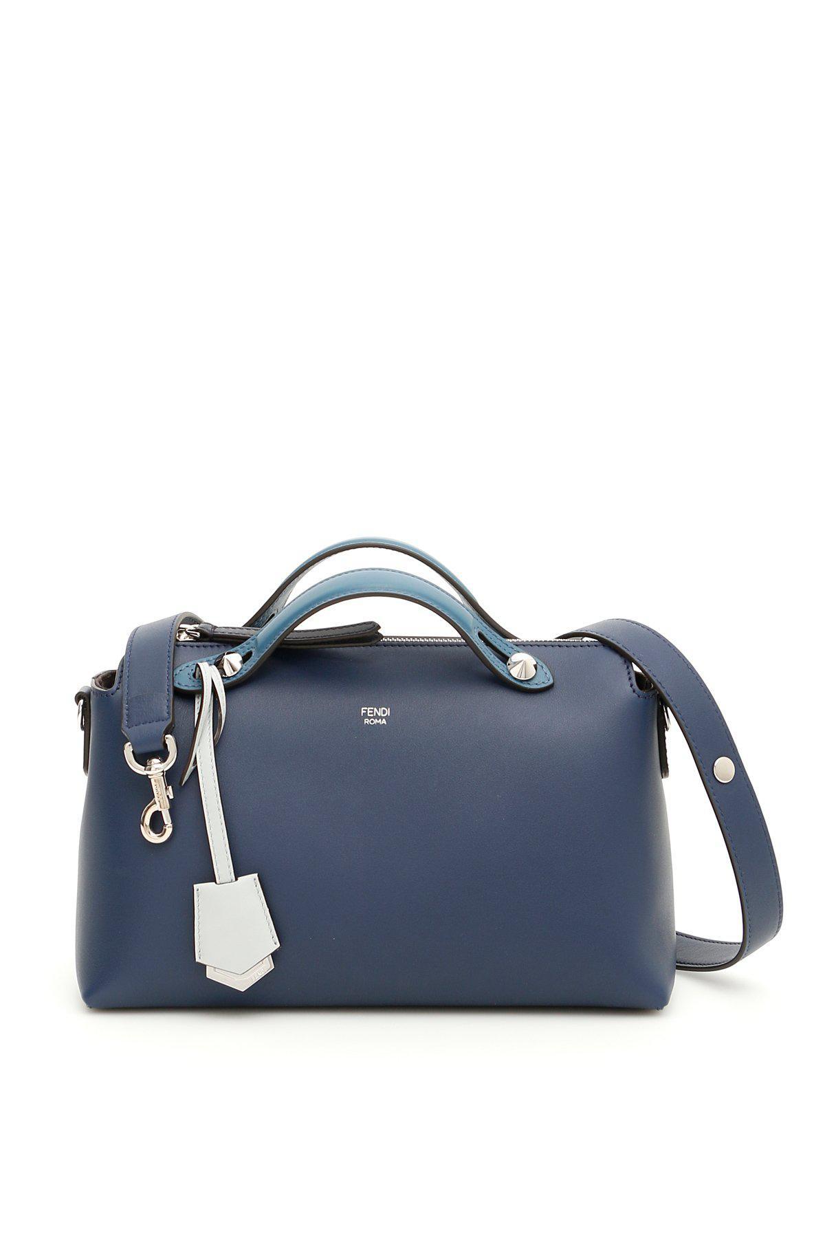 Lyst - Fendi By The Way Boston Bag in Blue db71098850bb5