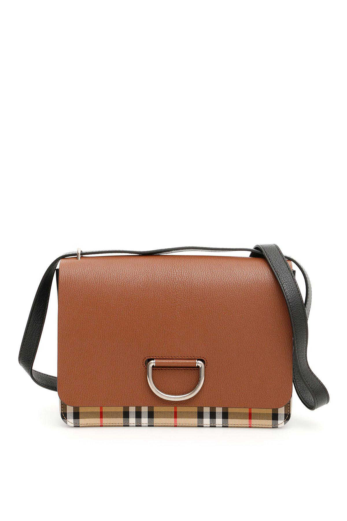 ecc3b22a2ed2 Lyst - Burberry D-ring Checked Shoulder Bag in Brown - Save 4%