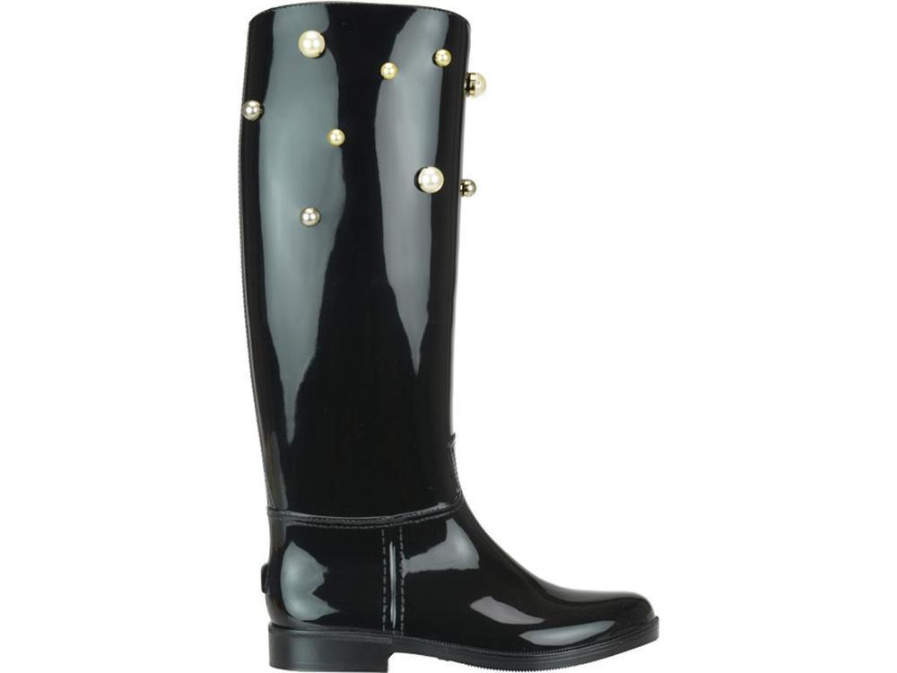 31ad4aee37d RED Valentino Studded Rainboots in Black - Lyst