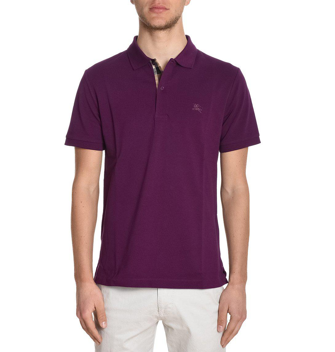 6d7c5c23e Lyst - Burberry Classic Polo Shirt in Purple for Men - Save ...