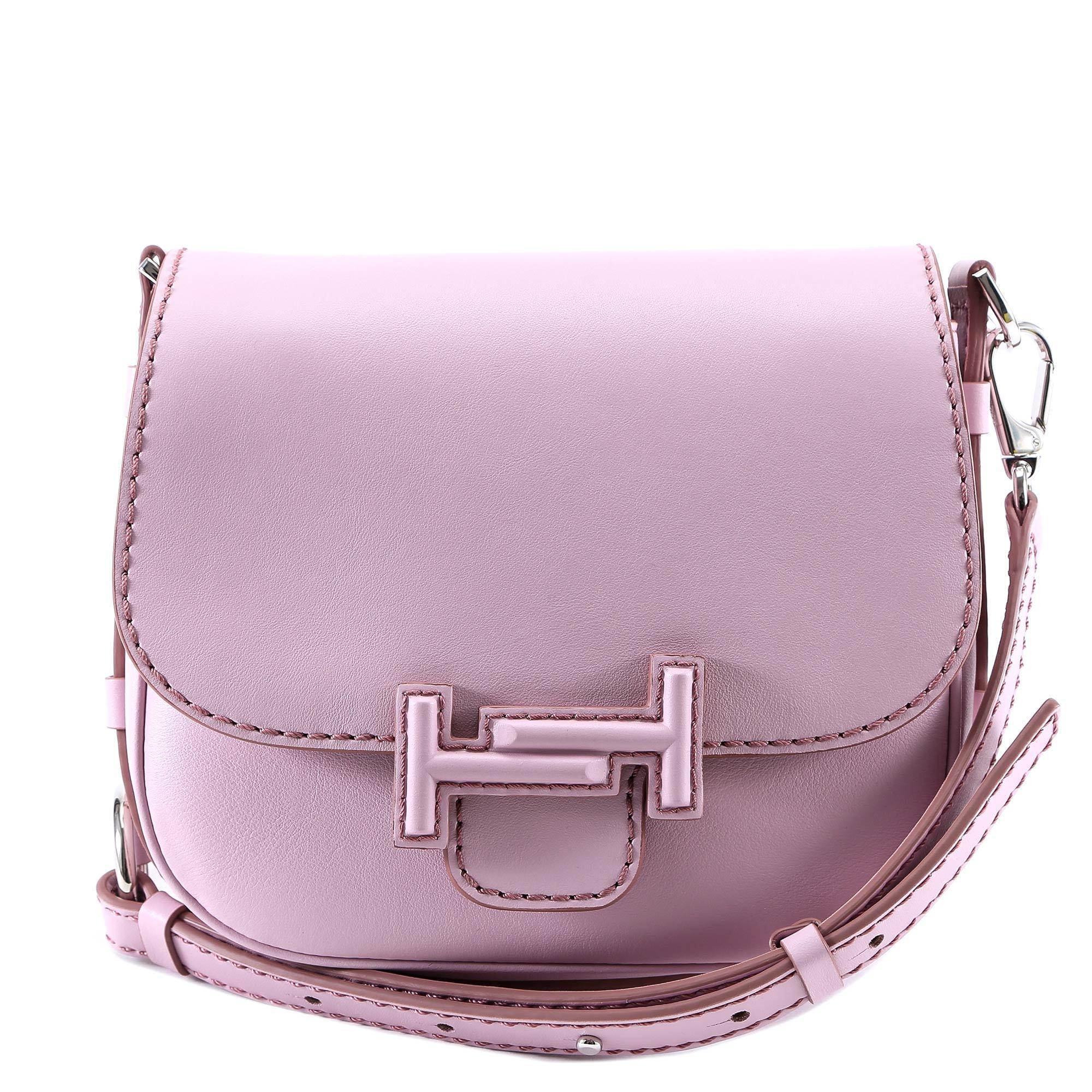 dbcdf89d32 Tod's Double T Saddle Bag in Pink - Lyst