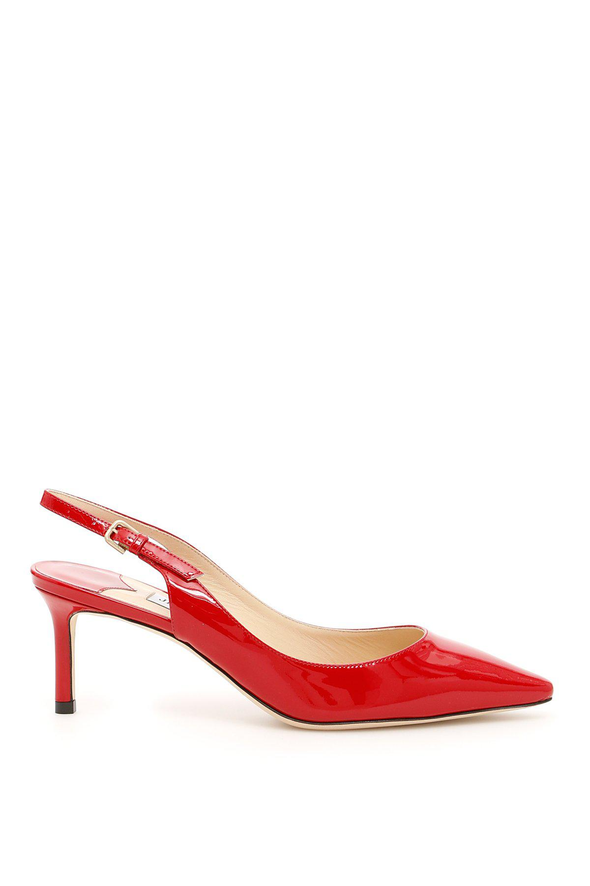 10987eab4d2 Lyst - Jimmy Choo Erin 60 Slingback Pumps in Red - Save 64%