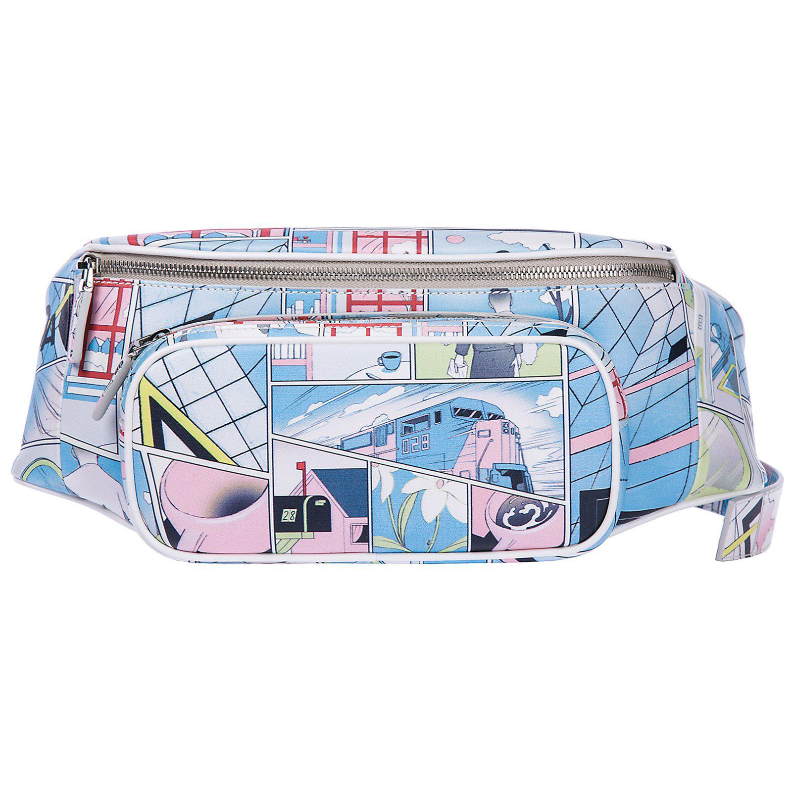 f4504d298bb3 Prada Comic Print Zip Belt Bag in Blue for Men - Lyst