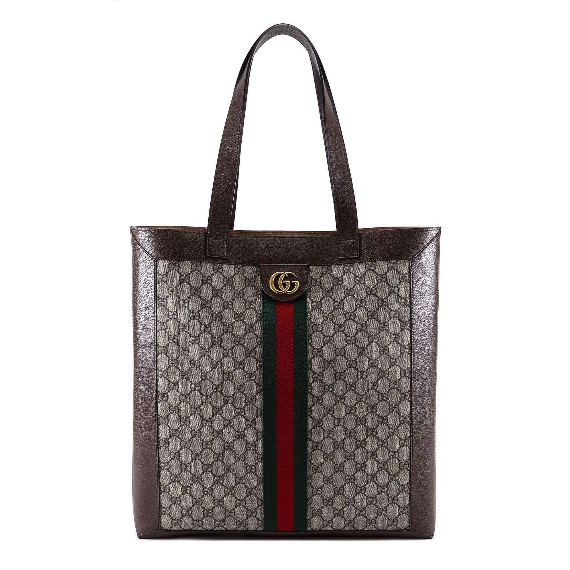 3593a5d20d5 Lyst - Gucci GG Supreme Tote Bag in Natural