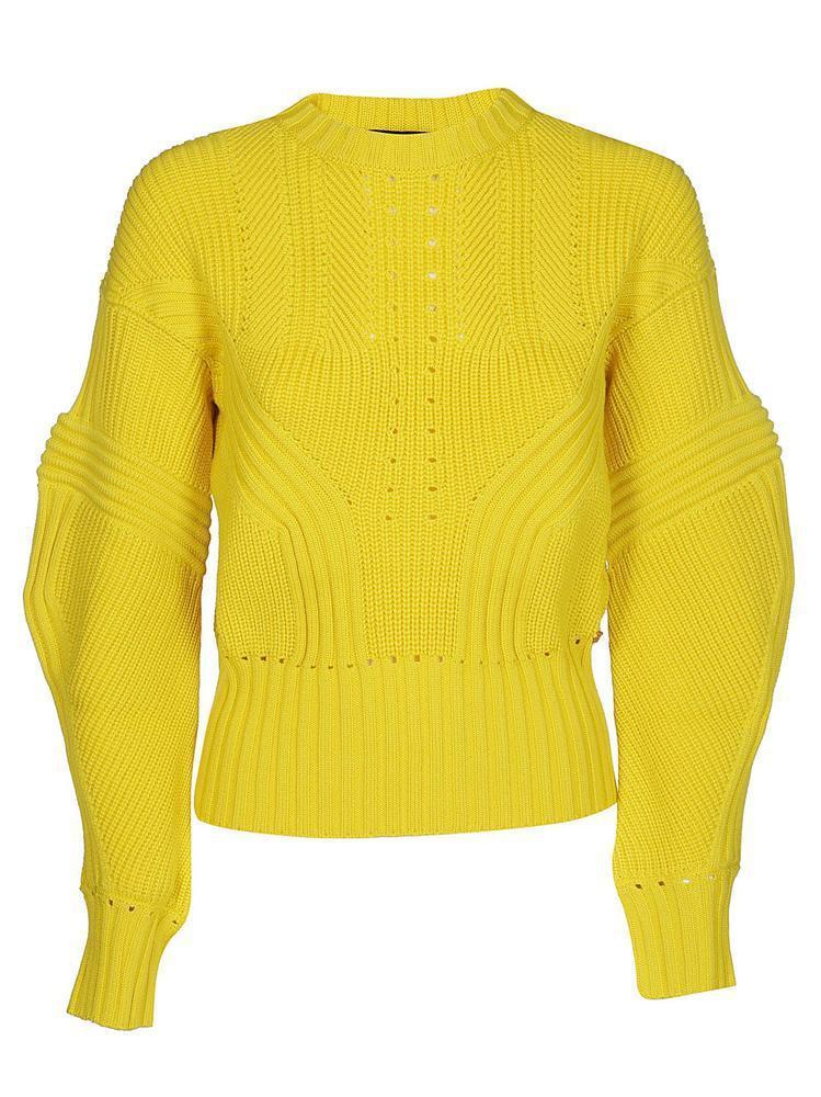 8fd37e0c03 Versace - Yellow Oversized Sleeve Pullover - Lyst. View fullscreen