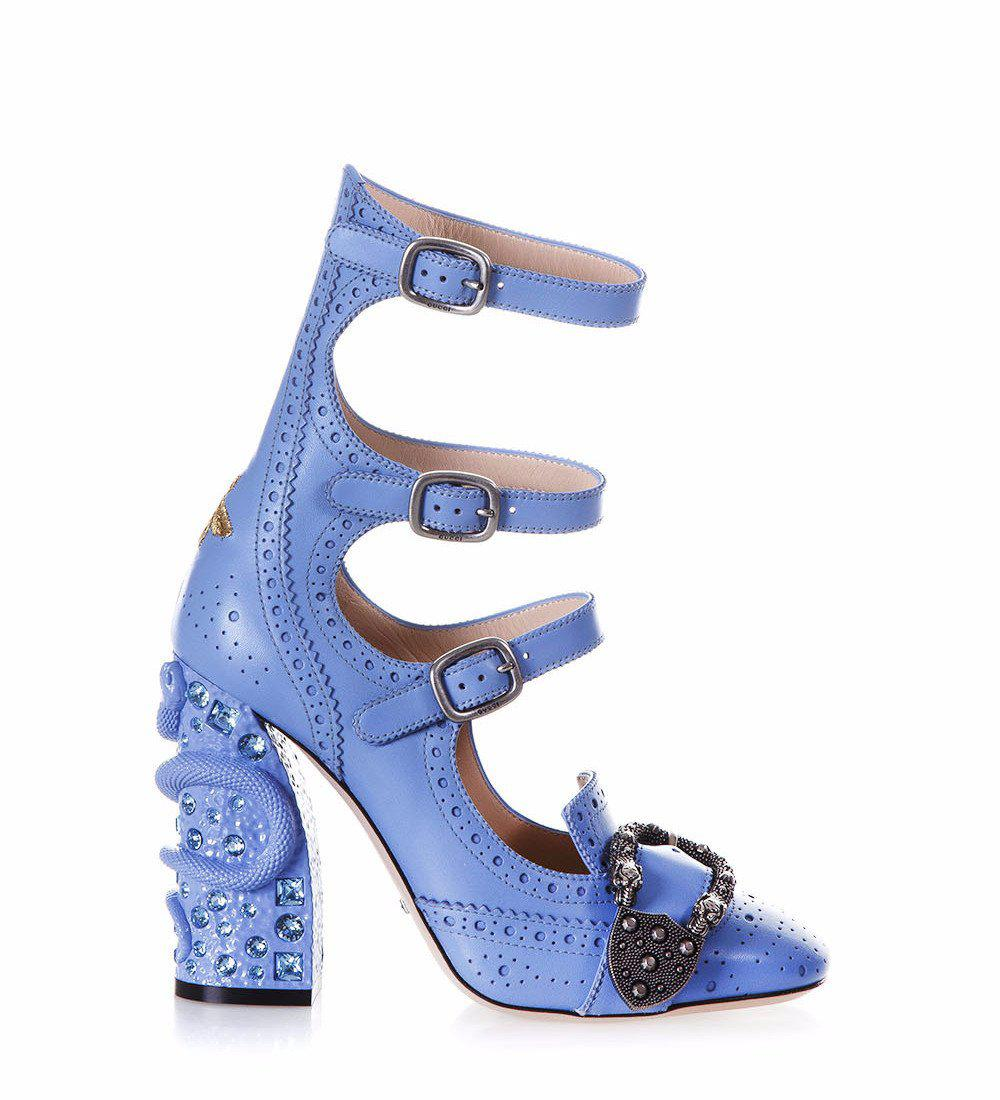 a24ad5ded96 Gucci. Women s Blue Queercore Buckle Heeled Court Shoes