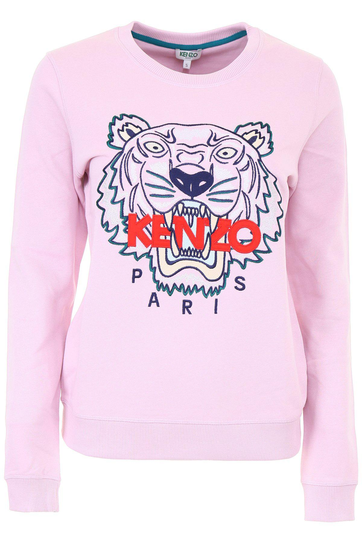 14d774f7 KENZO Tiger Print Sweater in Pink - Lyst