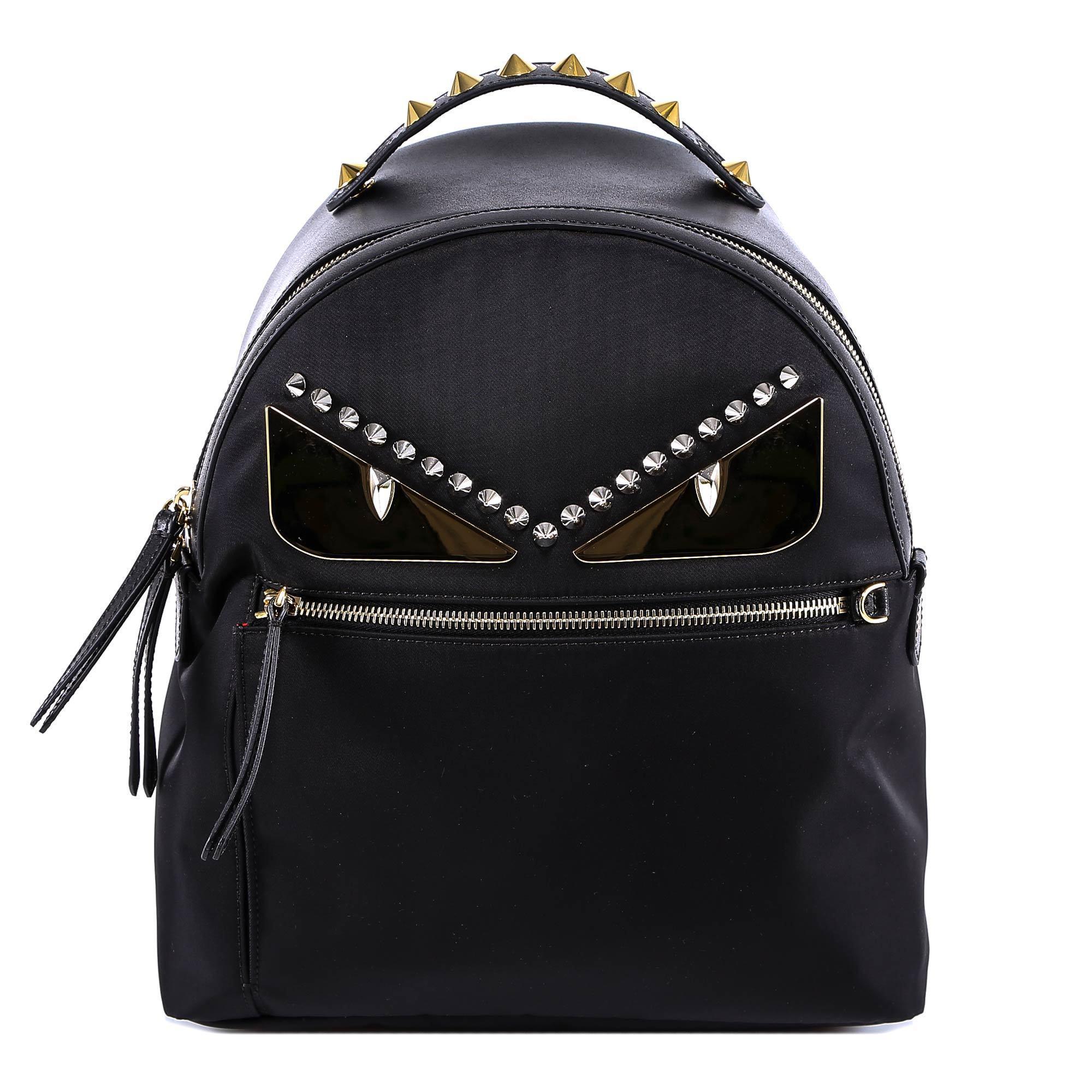 3cbf847a8510 Fendi Classic Bag Bugs Backpack in Black - Lyst