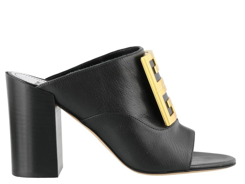 c4af136e03f Lyst - Givenchy 4g Buckle Mules in Black