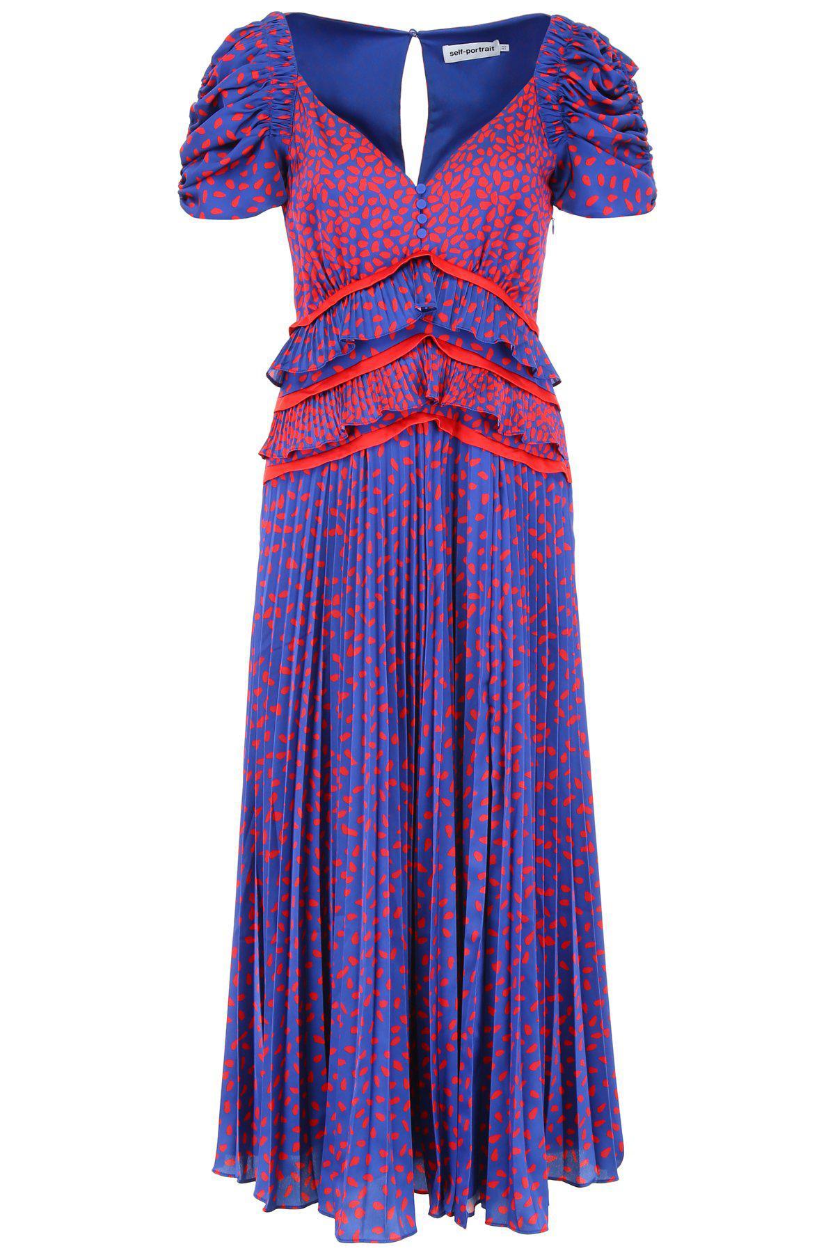 5ded29e10c9f Self-Portrait Ruffled Waist Dress in Purple - Lyst