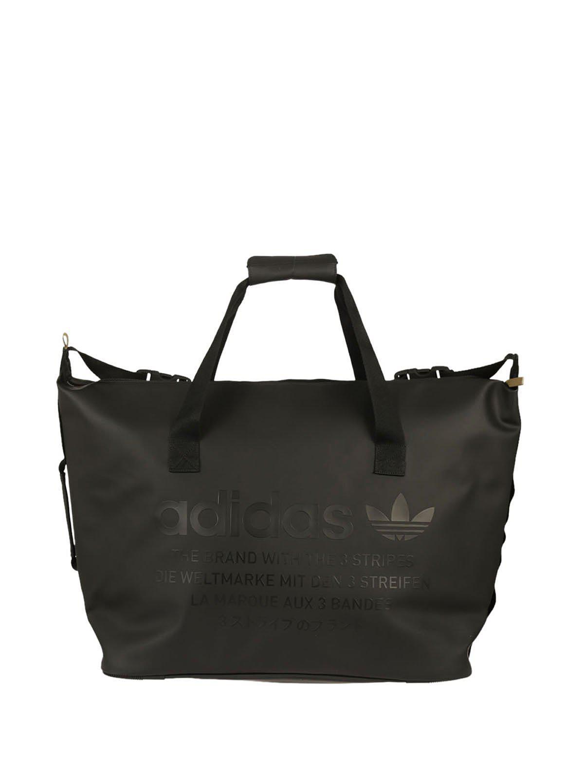 8408c3c0c Lyst - Adidas Originals Logo Duffle Bag in Black