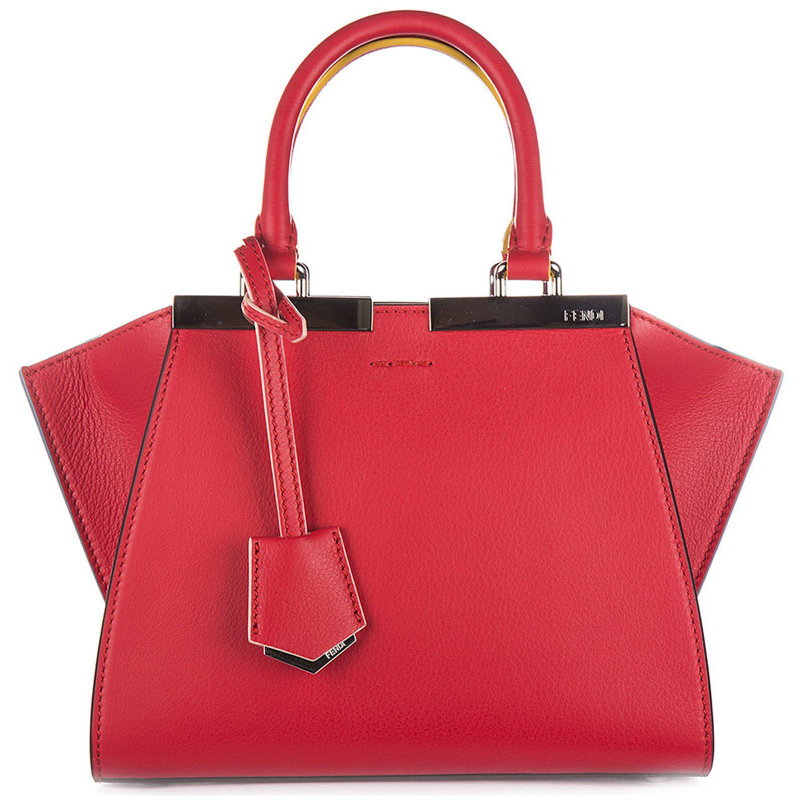7da1cc5c9e83 Fendi Mini 3jours Tote Bag in Red - Lyst