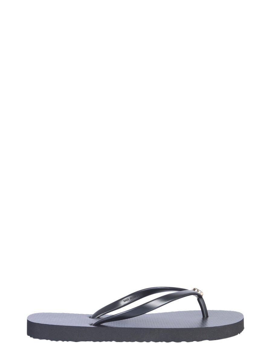ebe6e7f18eb99c Tory Burch - Black Thin Flip-flops - Lyst. View fullscreen