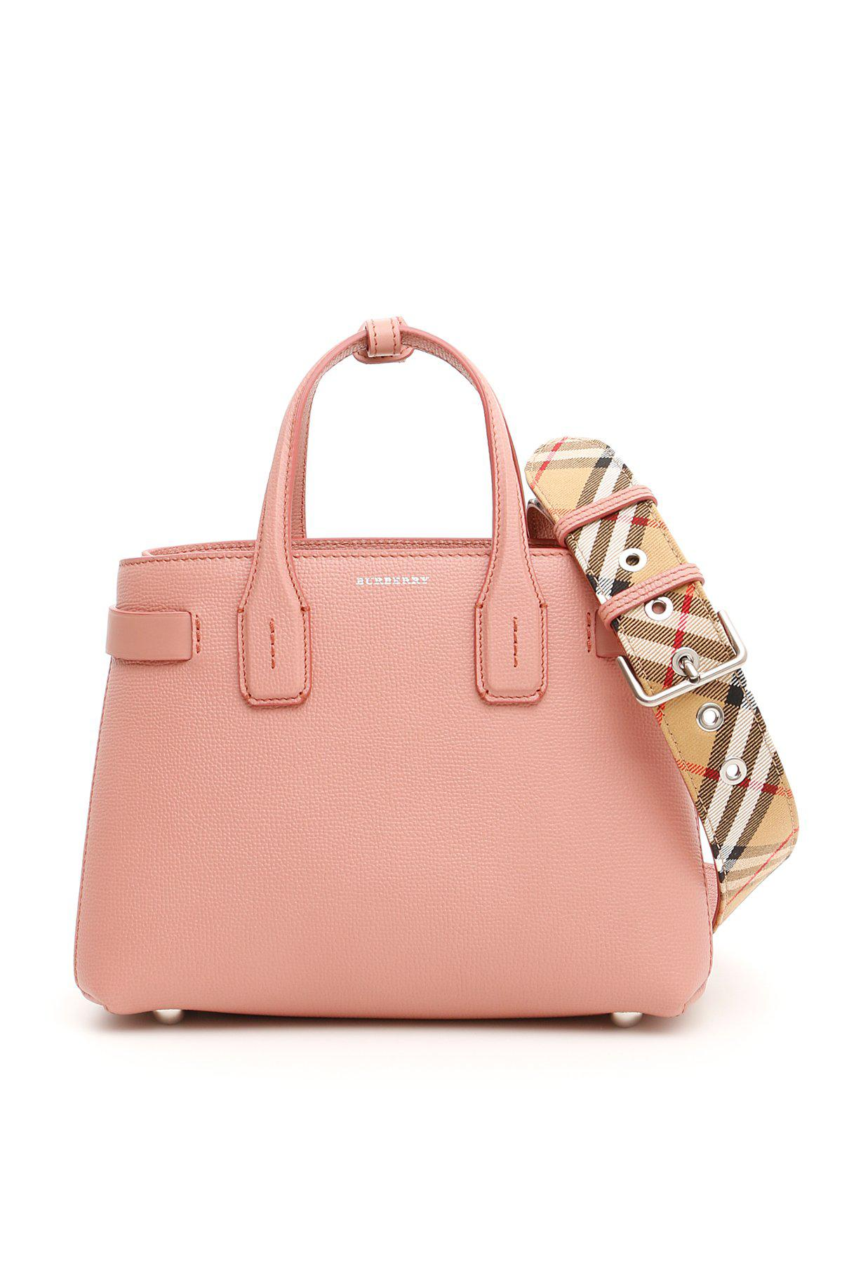 Burberry Banner Tote Bag in Pink - Lyst 299909414f1d9