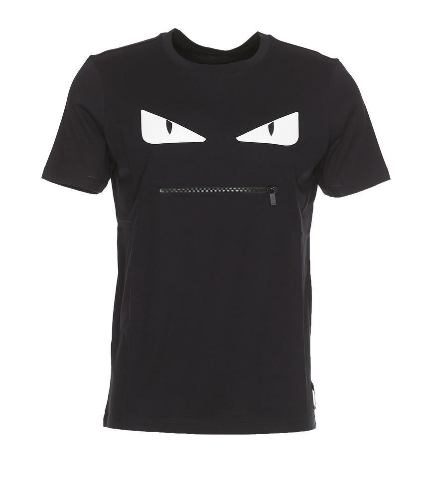 b3cec2088322 Fendi Zip Pocket Bag Bugs T-shirt in Blue for Men - Lyst