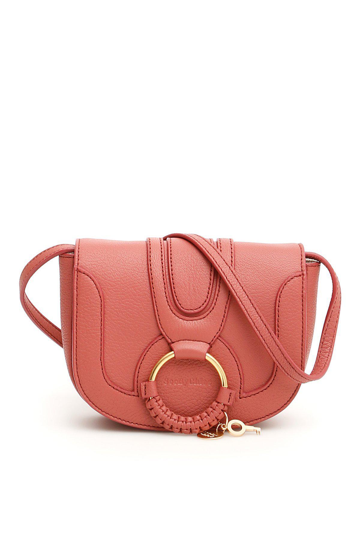 d4f0a6841a91 See By Chloé - Pink Hana Mini Leather Shoulder Bag - Lyst. View fullscreen