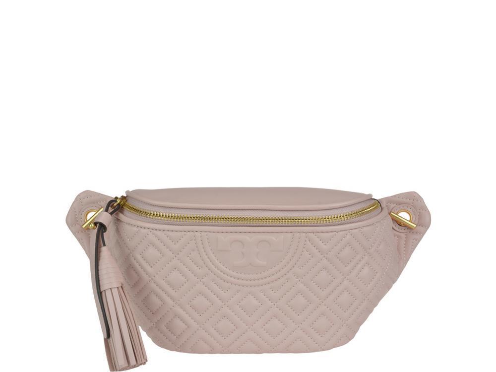 3ec864de61e Tory Burch Fleming Belt Bag in Pink - Lyst