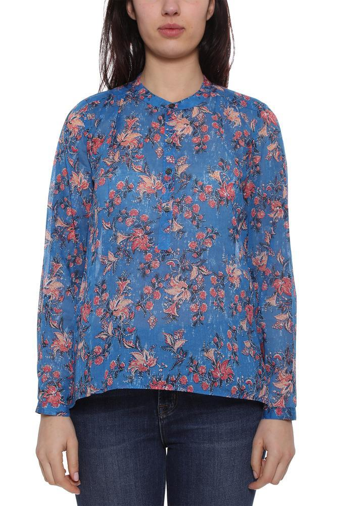 569fc4bfe0 Lyst - Étoile Isabel Marant Floral Print Top in Blue