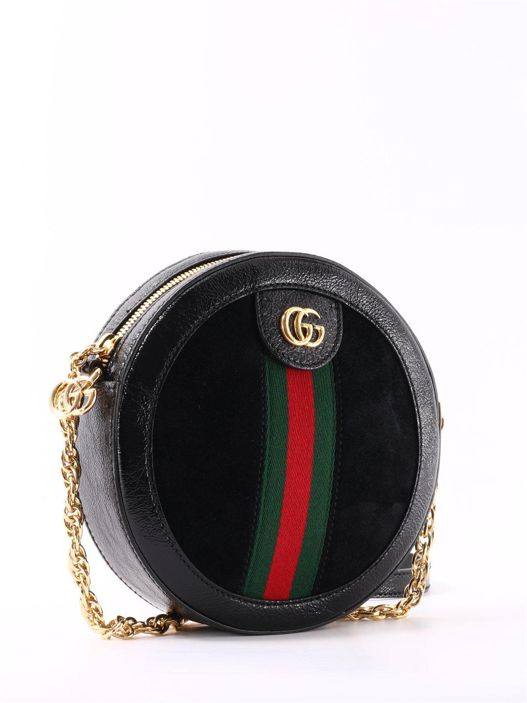 7776eb272d06 Gucci Ophidia Crossbody Bag in Black - Save 15% - Lyst