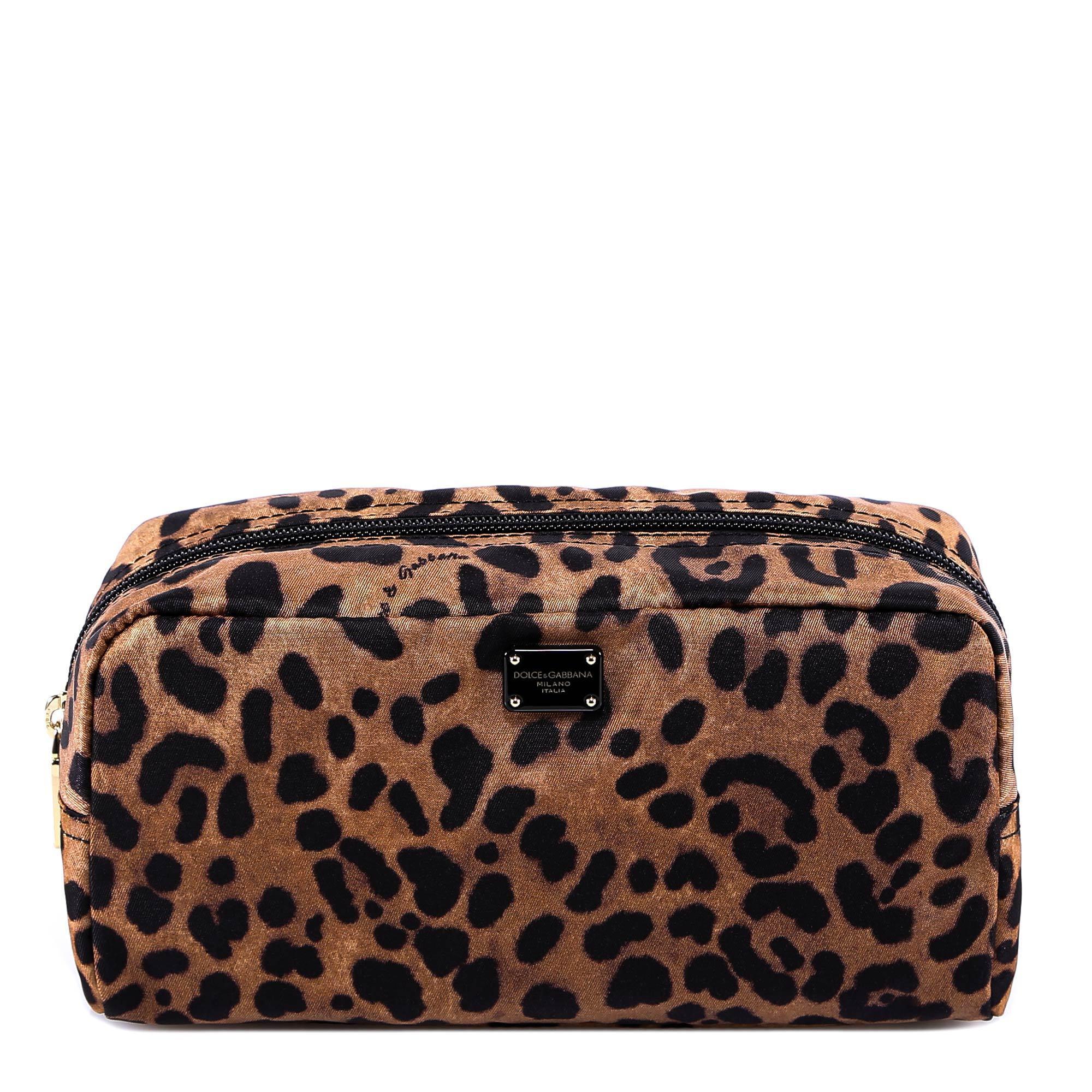 65dc99cf0f6c Dolce   Gabbana Leopard Print Make-up Bag in Brown - Lyst