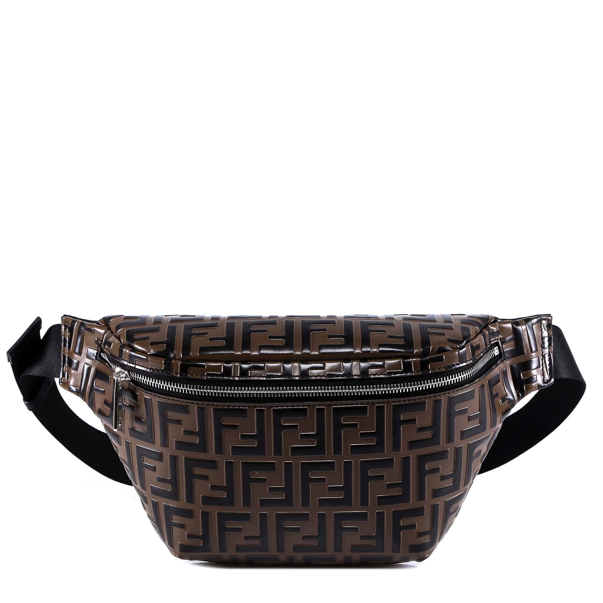 f1a40a9943 Fendi Ff Monogram Belt Bag in Brown for Men - Lyst